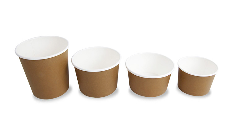 What are the different sizes of ice cream cups used for?